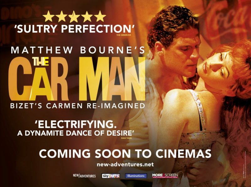 A poster advertising The Car Man